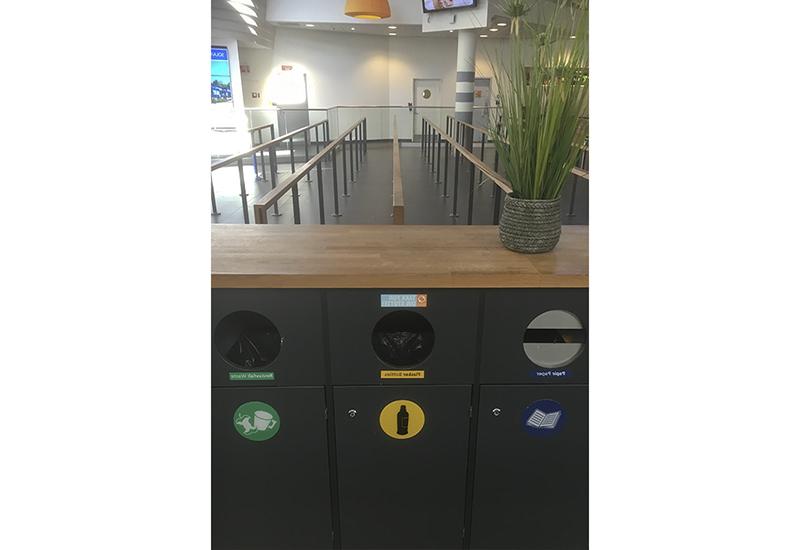 Kildesortering/miljøstasjon Stavanger lufthavn Sola