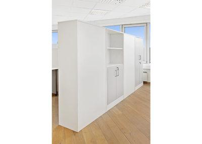 Arkivskap med hyller/veggdeler kontorfellesskap