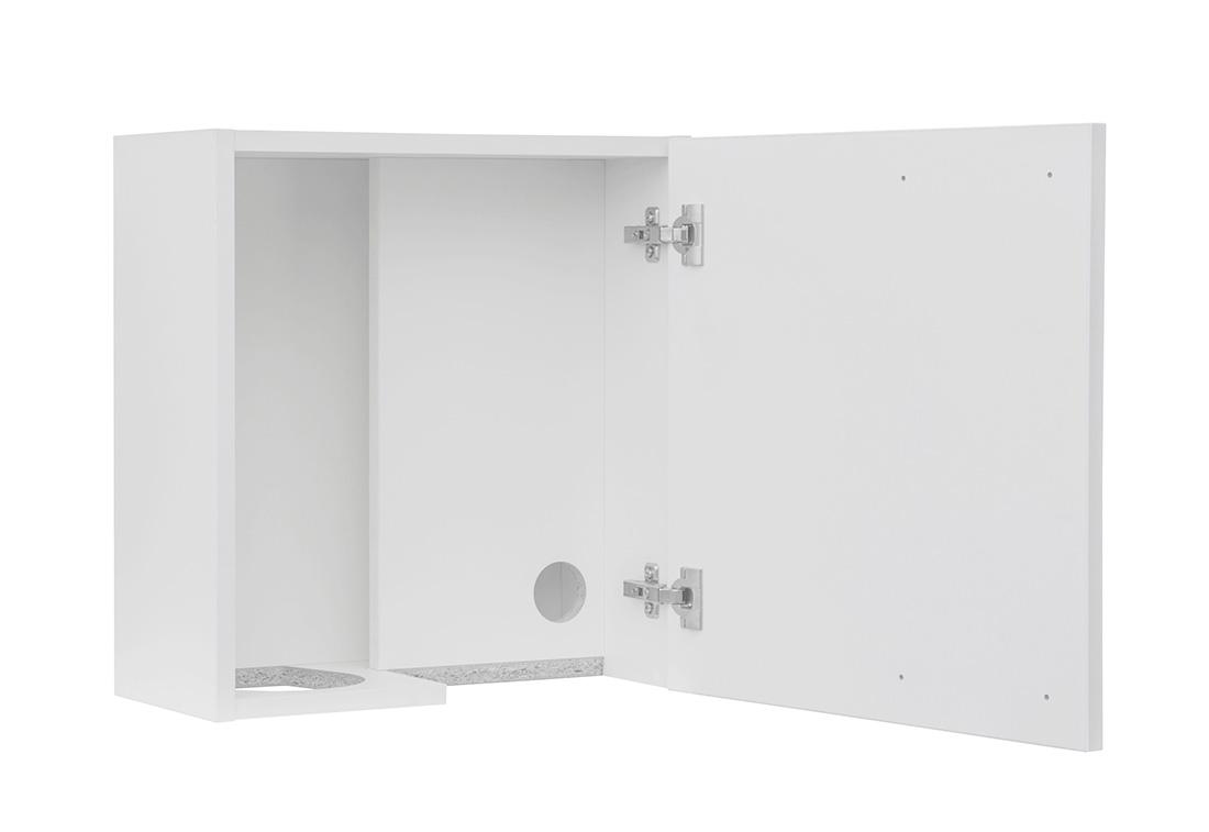 M2-2514-SH  - Speilskap for såpe, sprit og tørkerull høyrehengslet