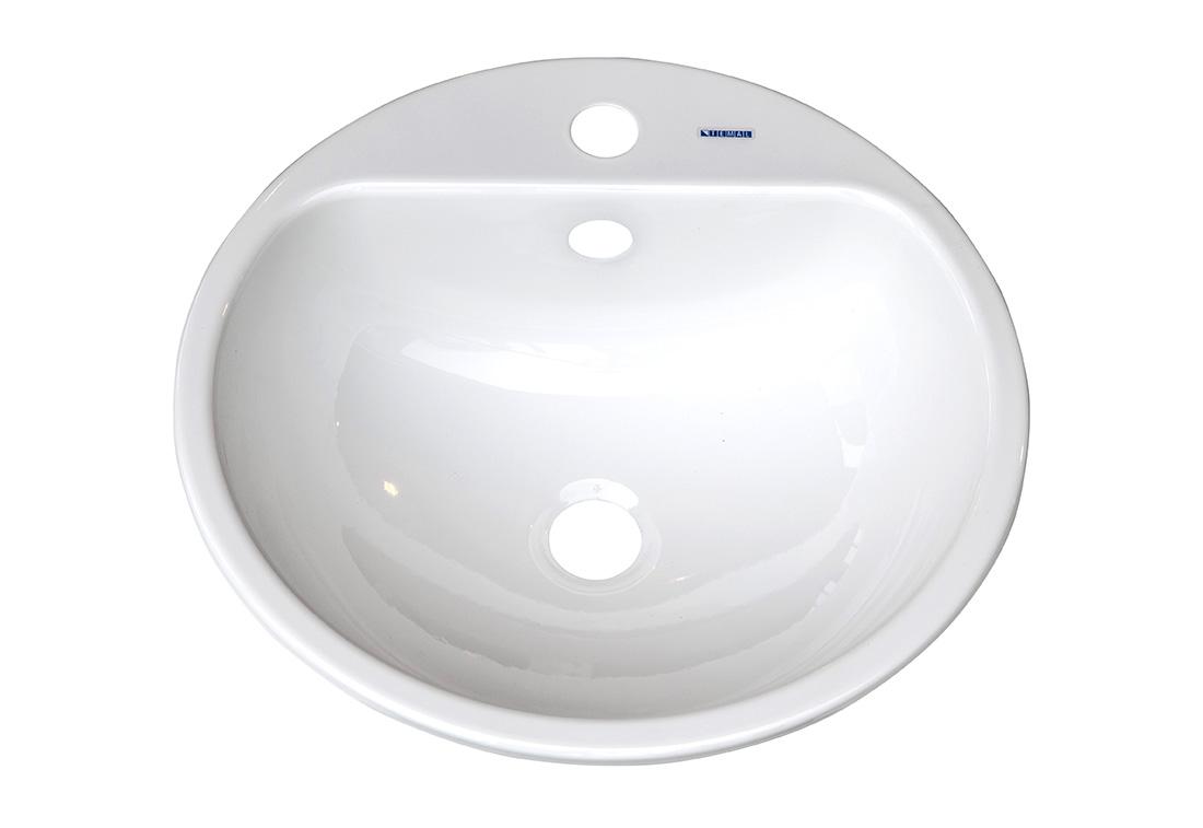 M6-03 - Vask topp-montert, hvit