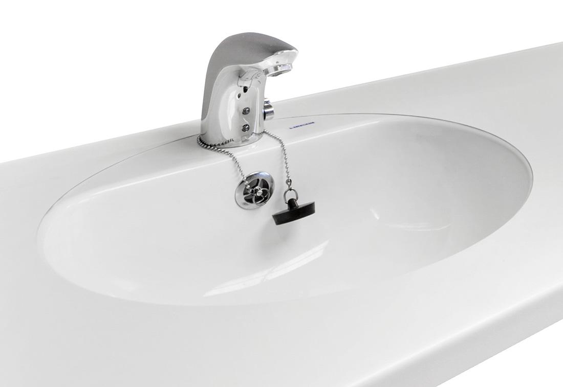 M6-04 - Vask plan-limt, hvit