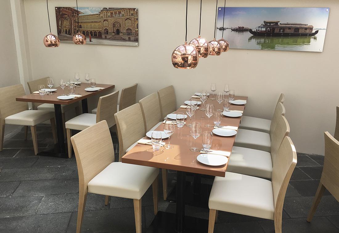 ed3b40b1 Restaurantinnredning kafèbord til den Indiske restauranten Jai Hind i  Stavanger