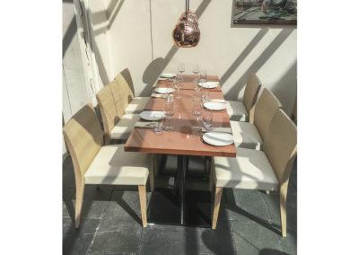 Restaurantinnredning kafèbord tilden Indiske restauranten Jai Hind i Stavanger